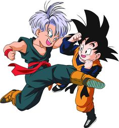 Some really good fan art of Trunks and Goten.
