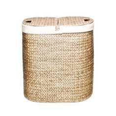 Seville Classics Hand-woven Oval Hyacinth Double Hamper | Overstock™ Shopping - Great Deals on Seville Classics Hampers