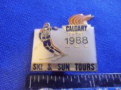 1988 Calgary Olympic Sponsor Pin Ski and Sun Tours