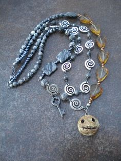 Without the creepy face pendant.    Surly or Sane? (Customer Design) - Lima Beads