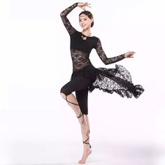New Training Belly Dance Clothes Women Ballroom Dance Dress Long Sleeve with Black Leggings Swallow Tail Skirt Belly Dance Latin Dresses Woman Dance Costume Online with $32.0/Set on Chenwencai's Store   DHgate.com