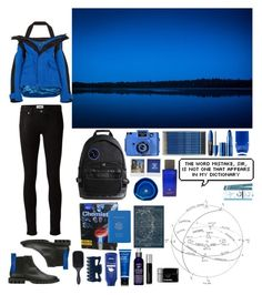 """""""Science Expedition"""" by shelcity ❤ liked on Polyvore featuring Études, Balenciaga, Paige Denim, Holga, AMI, Polaroid, ANNA by RabLabs, Thameen, Royce Leather and Revlon"""