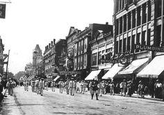 Wichita Kansas About 1909 Parade On North Market Street