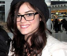 Lucy Hale  |  Celebrities wearing Glasses #glasses