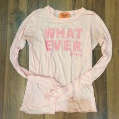 Juice Couture Whatever Shirt Super comfy. Thin material. Great condition. Juicy Couture Tops Tees - Long Sleeve