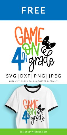 Want to make some super cute School Start projects with this FREE Game on 4th Grade svg file? Free download of this vector craft file. Make some School Start crafts with this file. These designs work on both silhouette and Cricut cutting machines.