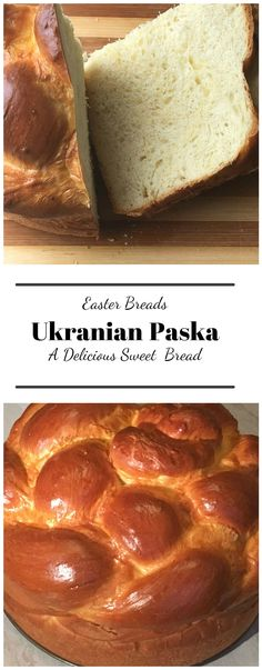 Ukranian Paska – An enriched sweet Easter bread. This lovely yeast bread has eggs , butter and sugar to make it soft and sweet. The festive decorative shaping adds a festive touch to it as well. bread with eggs Easter Breads - Ukrainian Paska Ukrainian Easter Bread Recipe, Ukrainian Recipes, Russian Recipes, Ukrainian Food, Russian Bread Recipe, German Recipes, Easter Recipes, Holiday Recipes, Easter Food