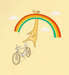 rainbows and giraffes!