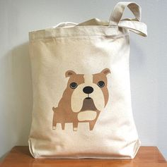 a2097b363aca Modern Gifts for Dog Lovers from Fancy Huli Canvas Tote Bags