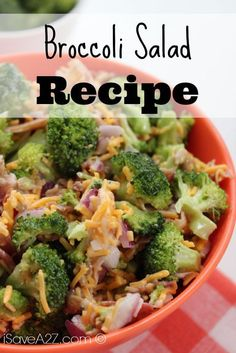 Broccoli Salad Recipe to die for!!!  I was surprised how popular this recipe was at our bbq party!!