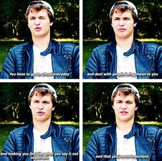 You can check out the video on my Ansel Elgort or Ansel and John board