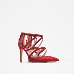 Image 3 of CROSSOVER LEATHER HIGH HEEL SHOES from Zara