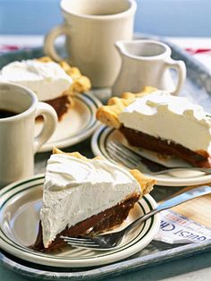 Chocolate-Filled Cream Pie