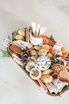 Christmas cookie charcuterie board. Kaila Walls Christmas
