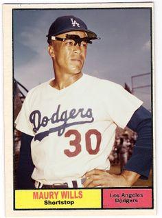 1961 Topps Maury Wills Red Sox Baseball, Baseball Photos, Baseball Cards, Dodgers Nation, Dodgers Fan, Maury Wills, Cubs Team, Baseball Photography, Indianapolis Colts