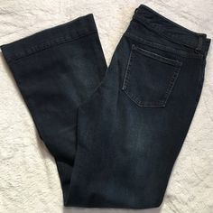 "Gap jeans Premium glare from Gap, the inseam is 30"" and the rise 10"". Dark wash and very soft! GAP Jeans Flare & Wide Leg"