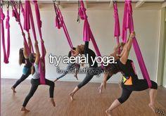 Try aerial yoga