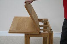 Flip Top Oak Dining Tables | Narrow Folding Console Tables