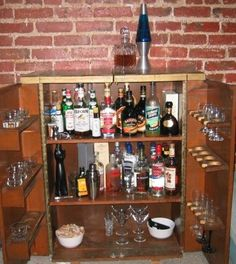 Liquor cabinet in a secretary desk. | ideas for my new home ...