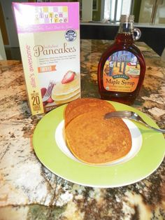 Pancakes and pure maple syrup!  Always a great way to start the day!