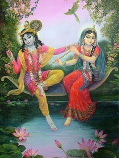 Radha's gotten hold of Her rival, Krishna's flute. :)