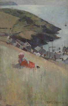 Frank Brangwyn (British, 1867-1956), Above the Fishing Village, 1887. Oil on canvas, 44 x 28 in.