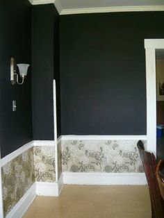 Dining room - wallpaper - this but with black and white stripe wallpaper