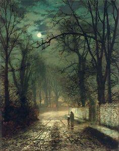 """""""A moonlit lane"""" Grimshaw"""