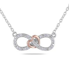 Shop for Miadora Sterling Silver Diamond Heart Infinity Necklace. Get free delivery at Overstock.com - Your Online Jewelry Destination! Get 5% in rewards with Club O! - 16384379