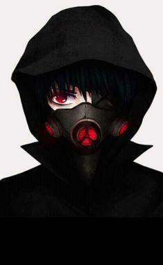 Anime Demon Boy, Dark Anime Guys, Cool Anime Guys, Hot Anime Boy, Anime Neko, Kawaii Anime, Anime Art, Anime Gas Mask, Ken Tokyo Ghoul