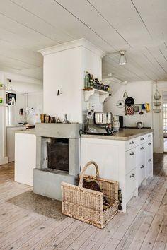 Suelos de madera en cocina rústica