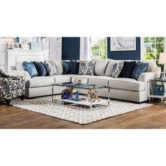 Furniture Of America Rosille Contemporary Beige Fabric L Shaped Sectional  By Furniture Of America