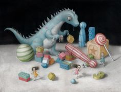 Amazon.com: Artifact Puzzles - Nicoletta Ceccoli It's My Party Wooden Jigsaw Puzzle: Toys & Games