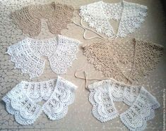 Crochet collars with charts Crochet Lace Collar, Crochet Blouse, Crochet Scarves, Crochet Doilies, Crochet Clothes, Crochet Eyes, Crochet Woman, Free Crochet, Knit Crochet