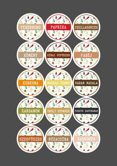 Cooking Box, Spice Labels, Art Drawings For Kids, Kitchen Cabinet Colors, Deco Table, Wall Stickers, Packaging Design, Decoupage, Decorative Plates