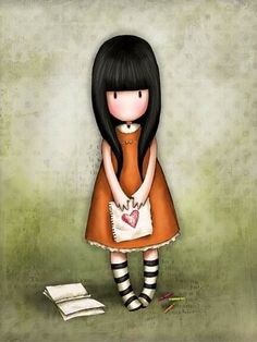 girl with book and letter☺