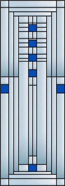 FLW Ennis Decorative Window Film