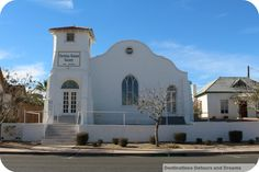 Adobe mission church in the historical downtown of Yuma, Arizona