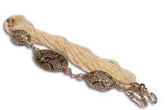 201302  (5) Black Diamonds, Bracelet Designs, White Gold, Drop Earrings, Pearls, Bracelets, Baby, Beautiful, Jewelry