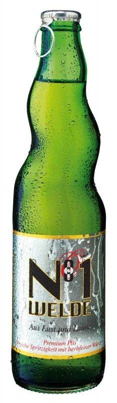 Cerveja Welde N°1, estilo German Pilsner, produzida por Welde Bräu, Alemanha. 4.8% ABV de álcool.