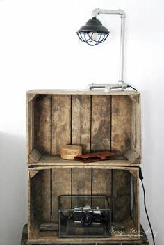 Mrs. Monday: Woodbox shelf...
