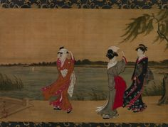 Attributed to Torii Kiyonaga (Japanese, 1752–1815). Three Girls on a Riverbank, early 19th century. The Metropolitan Museum of Art, New York. The Howard Mansfield Collection, Purchase, Rogers Fund, 1936 (36.100.46).