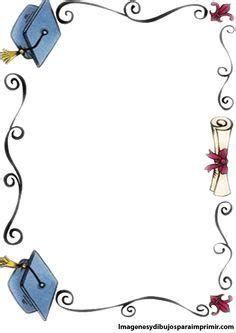 Graduation Clip Art, Preschool Graduation, Graduation Cards, Borders For Paper, Borders And Frames, Page Borders Design, Diy And Crafts, Paper Crafts, Stationary School