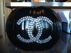 Chanel Pumpkin I bedazzled for Halloween this year <3