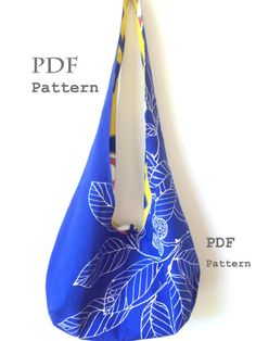 This post if for a PDF PATTERN for the reversible hobo bag in the picture. You can download the pattern as well as the instructions right after purchase.