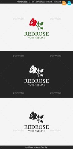 Red Rose Logo Template — Vector EPS #spa #woman • Available here → https://graphicriver.net/item/red-rose-logo-template/11527464?ref=pxcr
