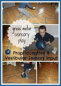 Simple Indoor Gross Motor Sensory Play Ideas