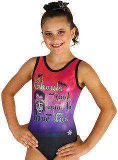 d1c3a312cbbd Ghouls Sublimated Gymnastics or Dance Leotards by Snowflake Designs (eBay  Link) Toddler