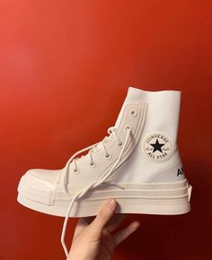Ambush x Converse collab, would you cop or drop? Sneakers Mode, New Sneakers, Chuck Taylor Sneakers, Sneakers Fashion, Fashion Shoes, Converse Sneakers, Adidas Fashion, Sock Shoes, Cute Shoes
