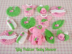 https://flic.kr/p/dgr3r3 | Lilly Pulitzer Baby Shower Cupcake Toppers